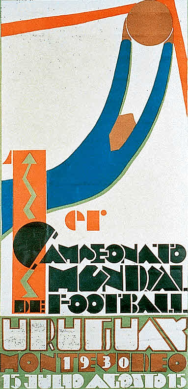 The poster for the 1930 World Cup