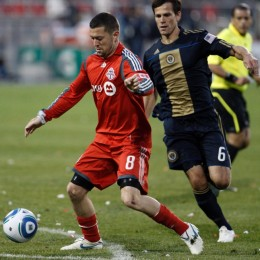 Dan Gargan against the Union for Toronto FC in 2010.