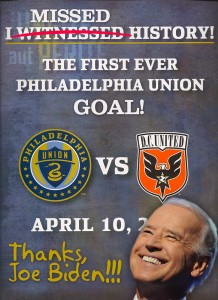 Joe Biden and Philadelphia Union: Not so perfect together.
