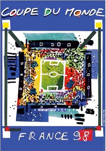 Poster for the 1998 World Cup in France