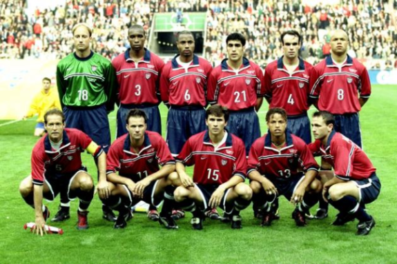 The US squad that faced Germany