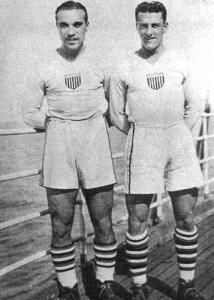 Billy Gonsalves (left) and Bert Patenaude