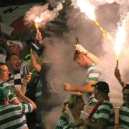 Yeah guys, you brought enough to smoke out the whole stadium. (Photo: Nicolae Stoian)