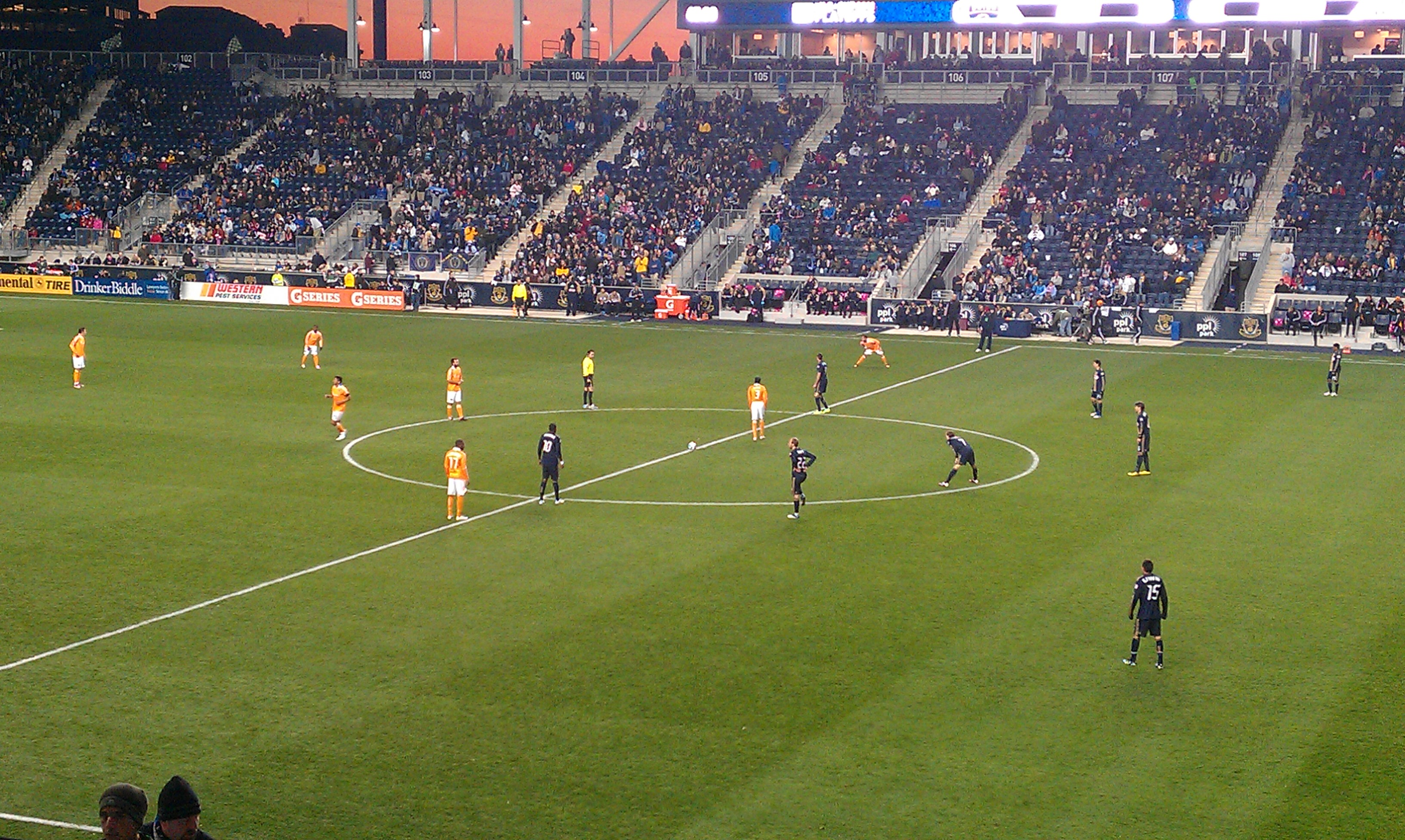 the philly soccer page live updated photo essay from the playoffs pre game doop