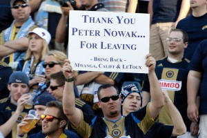 Peter Nowak's departure was the best news of the year for many Union fans. (Photo: Daniel Gajdamowicz)