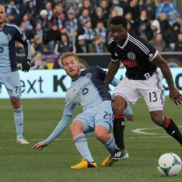 Michael Lahoud kept busy in the midfield