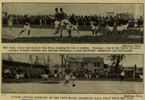 Match play in the final game of the 1913 American Cup