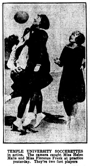 Temple soccerettes Evening Public Ledger 11-1-1922