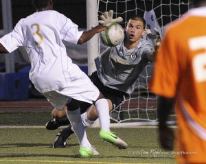 United keeper John McCarthy made 10 saves to help United earn a draw against Ocean City.