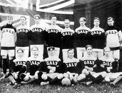 Galt FC in 1904. Photo courtesy of A More Splendid Life.com.