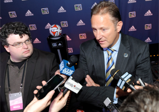Nick Sakiewicz, behind the curtain
