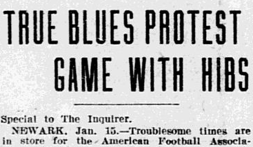 True Blues protest headline