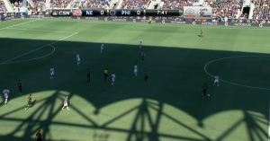 The Revs could not track Nogueira's wide runs, so they sat deep and invited pressure.