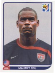 Maurice Edu 2010 WC panini