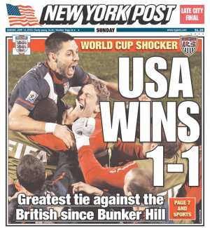 US wins 1-1 2010 WC
