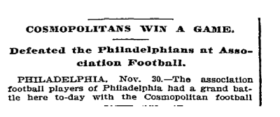 Cosmopolitans top Philly 12-1-1893 NYT