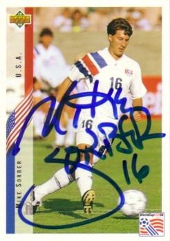 Sorber autographed 1994 WC card