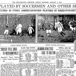 New Year's Day soccer in Philly, 1915