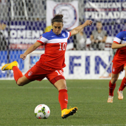 Carli Lloyd had as good a 2015 as one can imagine. (Photo: Paul Rudderow)