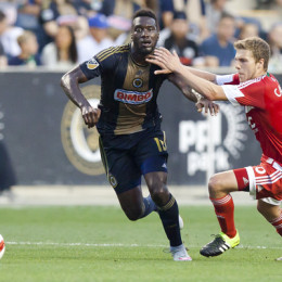 C.J. Sapong is a key player for the Union entering the 2016 season. (Photo: Daniel Studio)