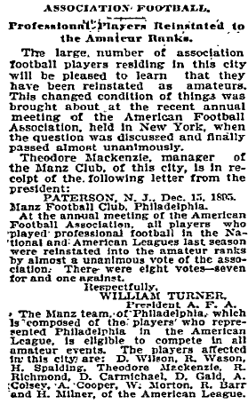 AFA lifts ban on pro players Inq 12-17-1895