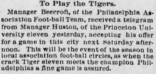 Beecroft-Princeton game 11-20-1894