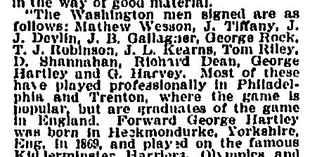 Philly pros on Washington ALPF team Boston Globe 10-1-1894