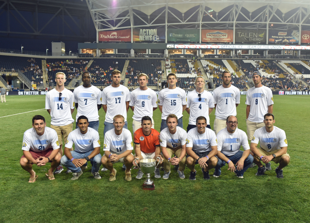 The team honored at PPL Park before the Union's US Open Cup semifinal against Chicago in August. Photo courtesy of Blaise Santangelo.