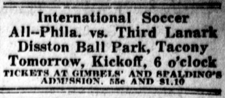 7-15-1921 Phila v All Scots ad Public Ledger p15