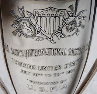 Detail of the trophy presented to the All-Scots by the USFA on July Image via gottfriedfuchs.blogspot.com.