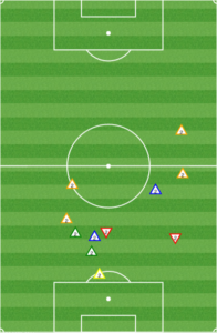 Creavalle stayed central and ensured that Bernier couldn't break through, and that Mancosu had to slide wide to receive the ball.