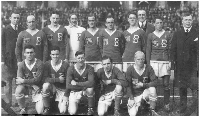 Bethlehem Steel FC in Scandinavia in 1919. Photo courtesy of Dan Morrison/bethlehemsteelsoccer.org