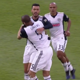 Screenshot of Haris Medunjanin after scoring against D.C. United on May 13, 2017.