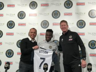 Union introduce David Accam, announce contract through 2020