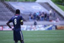Captain Derrick Jones waiting for the opening whistle.